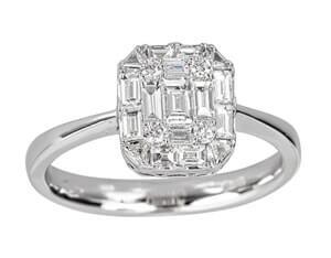 Invisible set diamonds