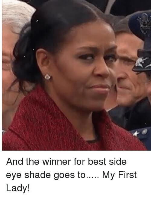 Michelle Obama Smirk