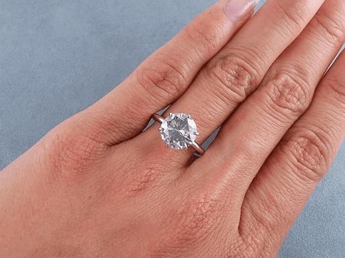Fancy Light Gray Diamond Ring
