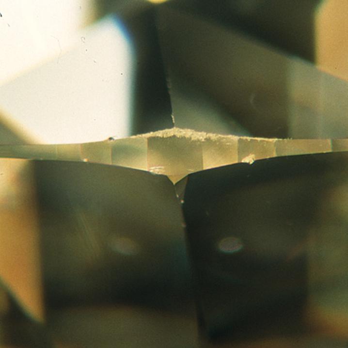 Diamond nick magnified
