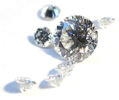 Diamond simulant vs. real diamonds
