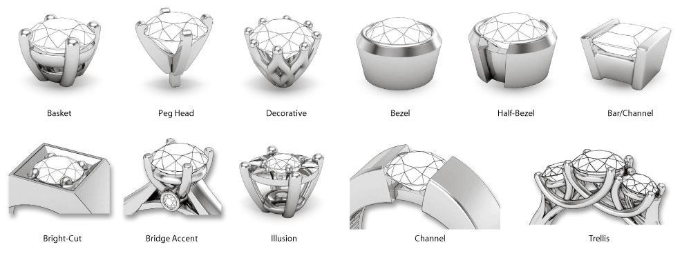 Ring setting options